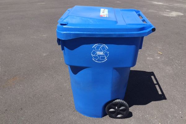 96-Gallon Blue Recycle Cart