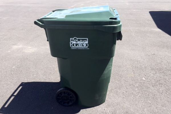 96-Gallon Green Garbage Cart