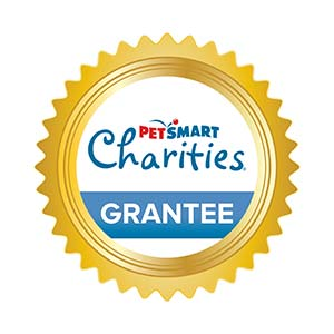 Graphic depicting a medallion for a PetSmart Charities Grantee