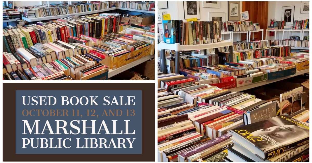Thursday, October 11, The Friends of the Marshall Public Library will start their three-day used boo