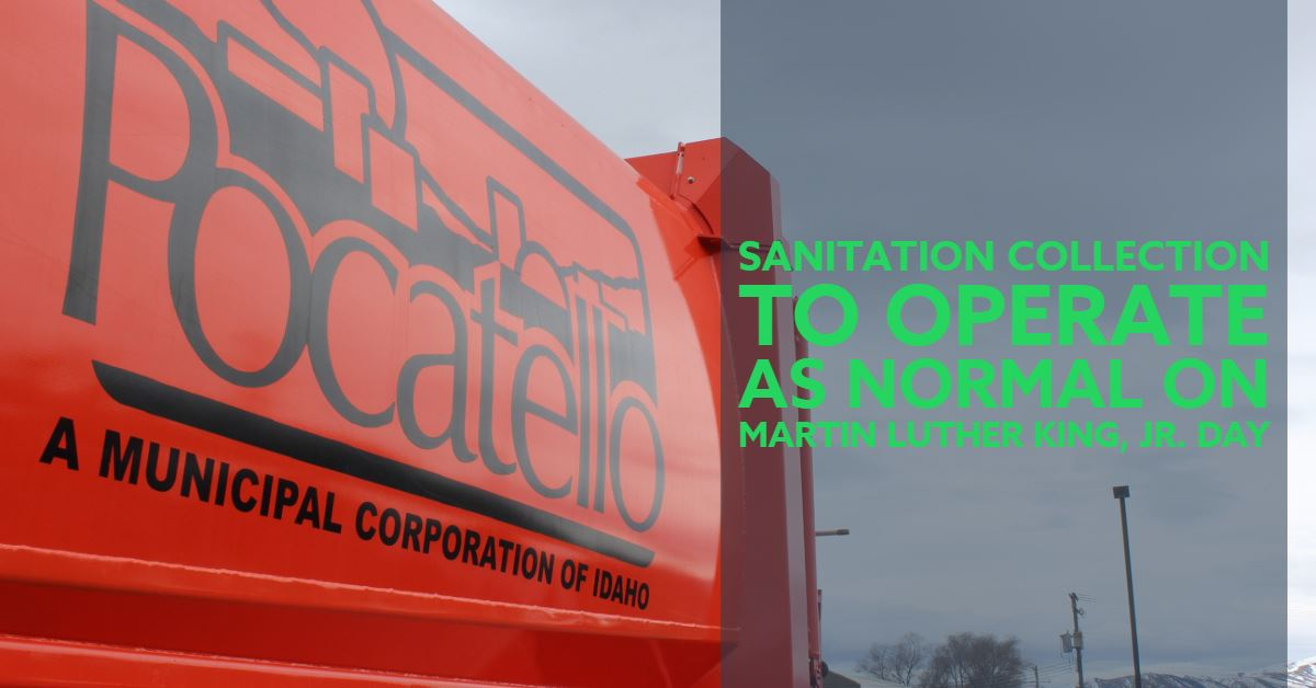 City of Pocatello Sanitation Department truck