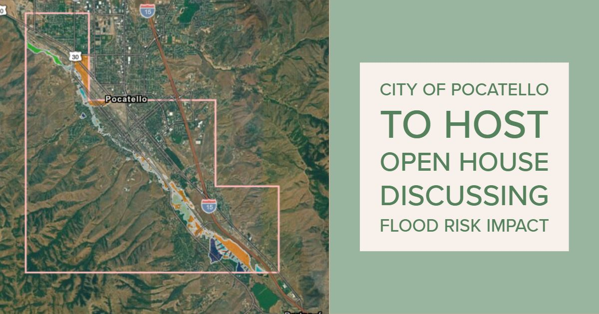 City of Pocatello flood map