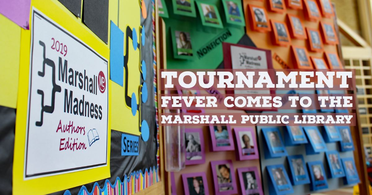 The &#34Marshall Madness&#34 bracket at the Marshall Public Library.