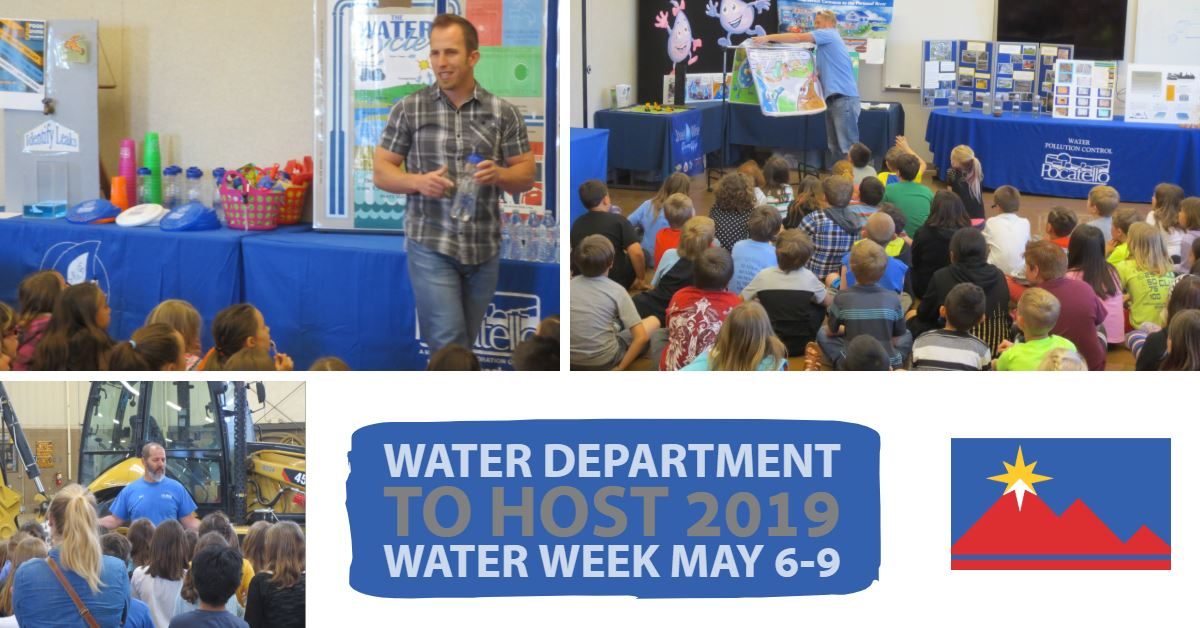 Attendees at the City of Pocatello Water Department's Water Week open house.