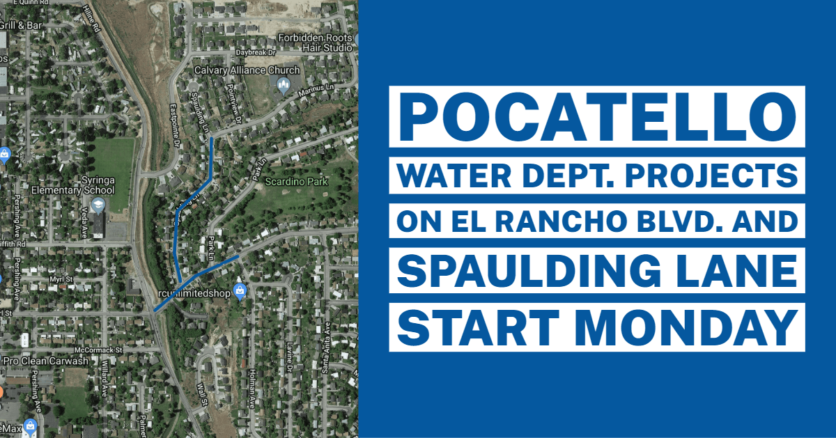 Map of the Water Department project on El Rancho Boulevard and Spaulding Lane
