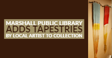Tapestries at the Marshall Public Library