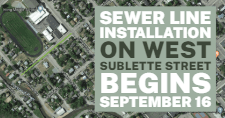 Map of the West Sublette Street sewer line project