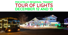PRT bus on the annual Tour of Lights