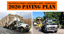 City of Pocatello Street Operations Department crews working on the city's roads.