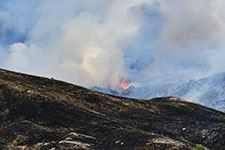 Photograph of fire on Chinese Peak in Pocatello, Idaho (July 2020)