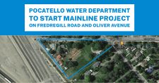 Frederegill Road and Oliver Avenue Water Dept. project map.