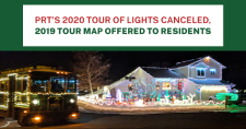 Pocatello Regional Transit bus at a stop on the Tour of Lights.