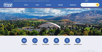 A screenshot of the redesigned pocatello.us.