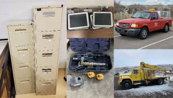 Items available in the 2021 City of Pocatello surplus auction