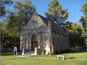 The Brady Chapel in Mountain View Cemetery